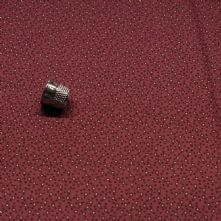 Wine Red with Mustard Dot 100% Cotton Print